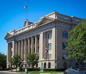 Greeley, Colorado - The Weld County Courthouse in Greeley