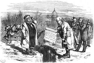 Jay Gould - Jay Gould appears to the far right of this cartoon by Thomas Nast from Harper's Weekly of February 10, 1872
