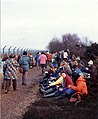 Greenham Common women's protest 1982, gathering around the base - geograph.org.uk - 759136.jpg