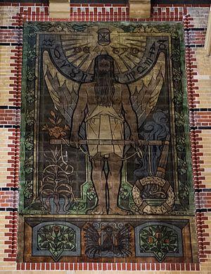 Franciscus Hermanus Bach - Image: Groningen stationshal tegeltableau Tijd