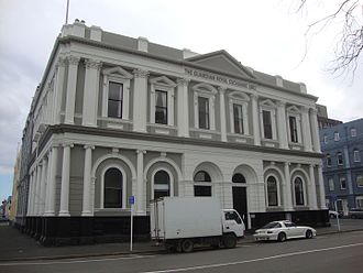John Roberts (mayor) - Dunedin's Guardian Royal Exchange building. From 1881 to 1962 Murray Roberts to the left of the entrance, Stock Exchange and Chamber of Commerce to the right. Basement occupied by Murray Roberts