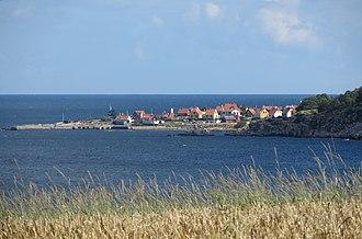 Gudhjem - Image: Gudhjem from west 1