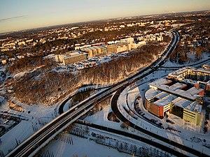 Automotive city - Separation of traffic in Helsinki, Finland