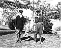 H. S. Bender and a friend at a rabbit hunt in 1919 (9316865986).jpg