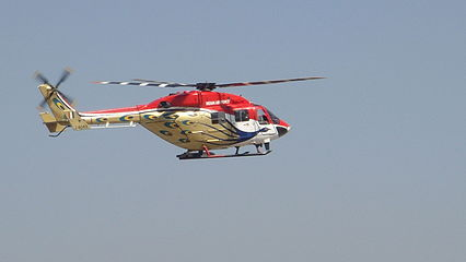 HAL Dhruv of Sarang Display Team at Aero India 2011.jpg