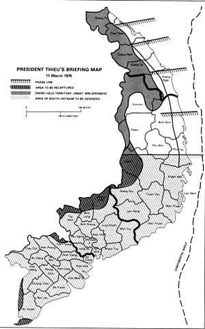 1975 Spring Offensive - President Thiệu's briefing map
