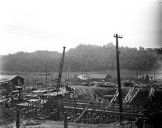 X-10 Graphite Reactor - Under construction