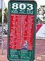 HK 沙田北 Shatin North 大涌橋路 Tai Chung Kiu Road 城門河 Shing Mun River minibus 803 stop sign February 2019 SSG.jpg