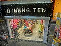 HK CityBus 97 tour view Wan Chai Road rain Hang Ten clothing shop Apr-2013.JPG