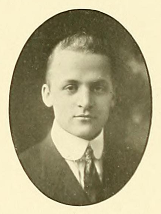 Harold Gore - Gore pictured in Index 1915, UMass yearbook