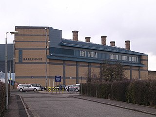 HM Prison Barlinnie prison operated by the Scottish Prison Service and located in the residential suburb of Riddrie