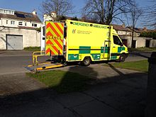 HSE NAS Emergency Ambulance at a scene in Dublin 2014-03-14 00-00.jpg