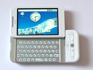 HTC Dream - A white Orange HTC Dream with a AZERTY keyboard