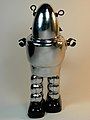 Ha Ha Toy – Tin Wind Up – Planet Robot – Chrome Version – Back Side.jpg