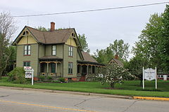 Hack House Milan Michigan Register of Historic Places.JPG