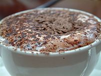 Decadent hot chocolate at Hahndorf's in Surrey...