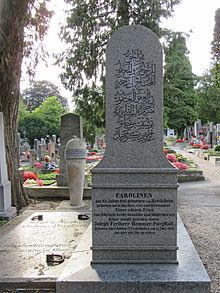Grab von Joseph von Hammer-Purgstall in Klosterneuburg-Weidling (Quelle: Wikimedia)