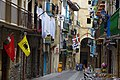 Hanging out the flags - and the washing - in Getaria - panoramio.jpg