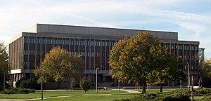 John A. Hannah - The Hannah Administration Building is named after Hannah.
