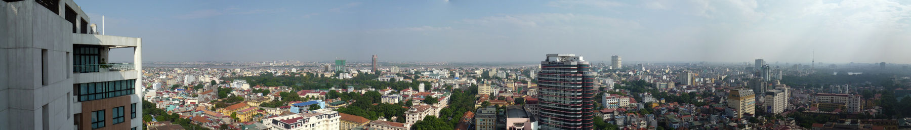 A panoramic view of Hanoi