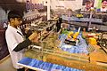 Harshit Agarwal with Automatic Idols Immersion System - We Care Stall - Indian National Championship - WRO - Kolkata 2016-10-23 1605.JPG