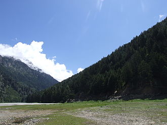 Harsil - Ganges below Gangotri, near Harshil