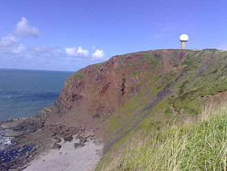 Hartland Point - The radar perched on top of the cliff