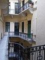 Hatschek house. Small courtyard. Balconies. - 5 Nyugati Square, Budapest.JPG