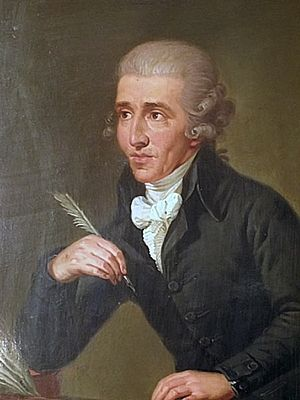 Joseph Haydn - Portrait by Ludwig Guttenbrunn, painted c. 1791–2, depicts Haydn c. 1770