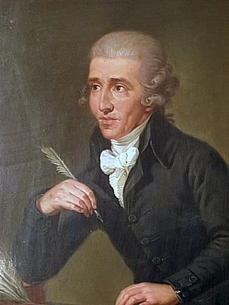 Tonkünstler-Societät - Haydn as portrayed by Ludwig Guttenbrunn. The portrait dates from c. 1791–2, but depicts Haydn c. 1770, based on an earlier version.