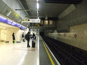 Heathrow Terminal 4 tube station - Image: Heathrow Terminal 4 tube look east