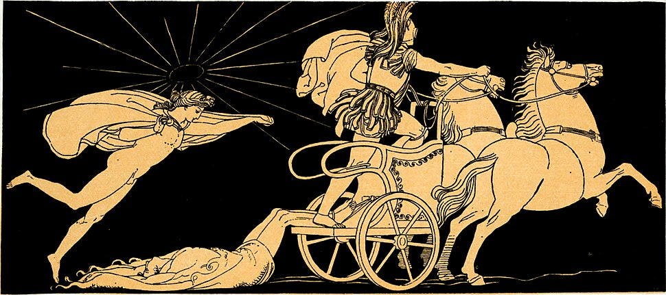 Hector's body dragged at the Chariot of Achilles