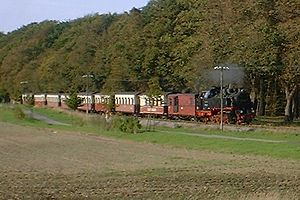 Molli railway - Between Heiligendamm and Bad Doberan