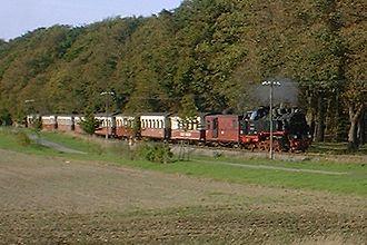 Molli railway - Between Heiligendamm and Bad Doberan