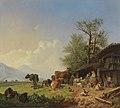 Heinrich Bürkel - Bauernhof mit Brunnen (1850).jpg