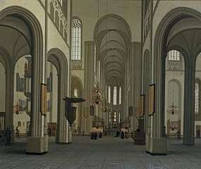 Interieur van de Dom in 1672