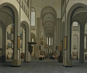 St. Martin's Cathedral, Utrecht - Hendrick van Vliet, 1674, the year of the storm.