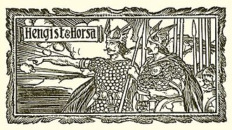 Hengist and Horsa - The brothers in Edward Parrott's Pageant of British History (1909)