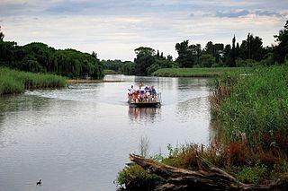 Klip River river in South Africa