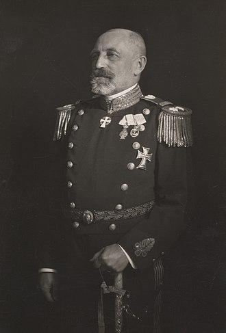 Chief of the Royal Danish Navy - Image: Henri Konow by Elfelt