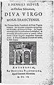 Henricus Sedulius, Diva Virgo Mosæ-Traiectensis (1609).jpg