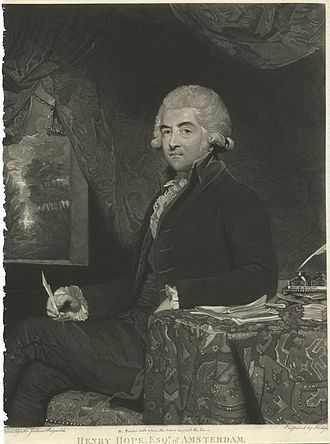 Henry Hope - Henry Hope in 1788, mezzotint by Charles Howard Hodges after a now-lost painting by Sir Joshua Reynolds.