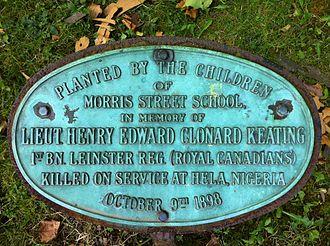 Clonard Keating - Clonard Keating Plaque, Halifax Public Gardens, Nova Scotia