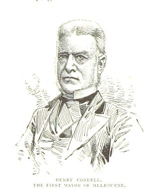 Henry Condell (mayor) - An 1888 illustration of Condell
