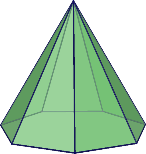 Heptagonal pyramid