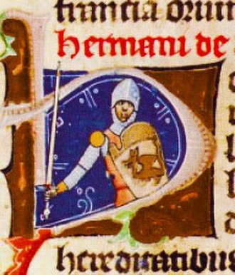 Hermán (genus) - Knight Herman depicted in the Illuminated Chronicle
