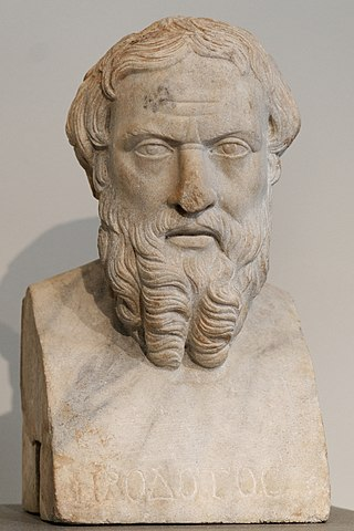 Head of Herodotus. Roman copy,  2nd Century, CE. (Wikimedia Commons)