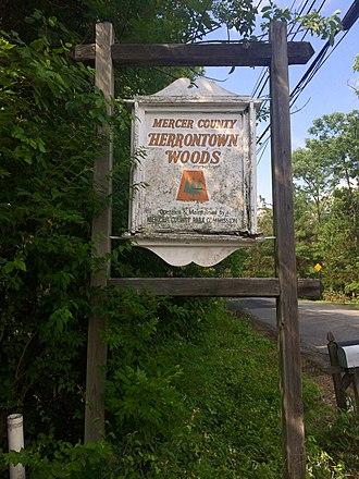 Herrontown Woods Arboretum - Image: Herrontown Woods Sign