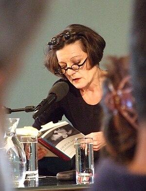 Herta Mueller, German writer, at shortlist pre...