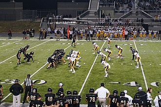 Wishbone formation - Royse City High School running the wishbone against Highland Park